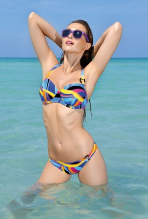 Bikini Antigel geometrico multicolor