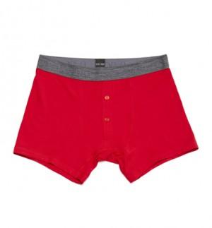Boxer rojo de Hom estilo clasico con abertura delantera