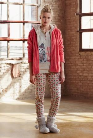 Pijama 3 piezas winter cat