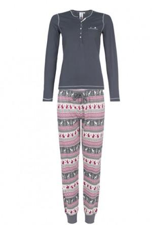 pijama copos de nieve y renos