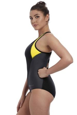 Bañador deportivo moldeado amarillo Freestyle Freya