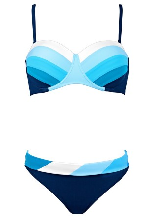 bikini lidea 2018 bandeau sin tirantes