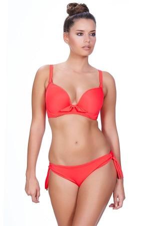 Bikini estampado liso coral copa G Freya