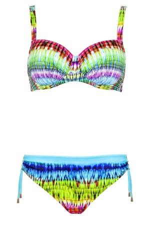 Bikini Lidea copa G estampado multicolor muy juvenil braguita regulable