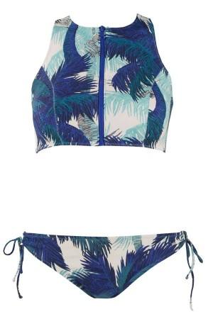 Bikini surfero de palmeras azul copa B Palma de Red Point