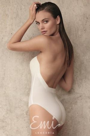 Body Etna sin tirantes y con espalda al aire para vestidos de novia escotados de espalda Selmark lingerie