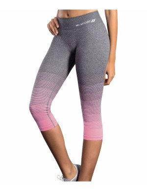 Legging deportiva pirata degradado rosa