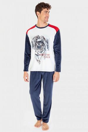 pijama-invierno-hombre-massana-estampado-azul