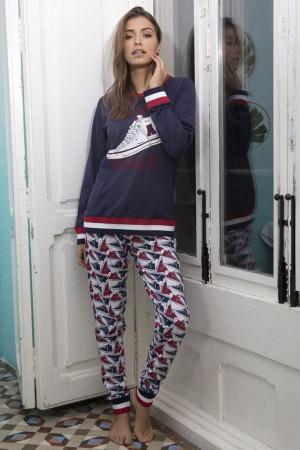 Pijama algodón mujer dibujo bamba de Admas