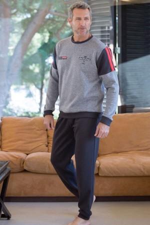Pijama polar gris de hombre 691347 de Massana