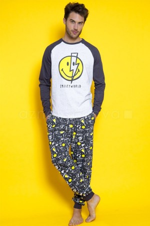 "Pijama invierno ""Bowie"" emoticono de Smiley World"