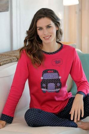 Pijama mujer invierno dibujo Taxi de Massana