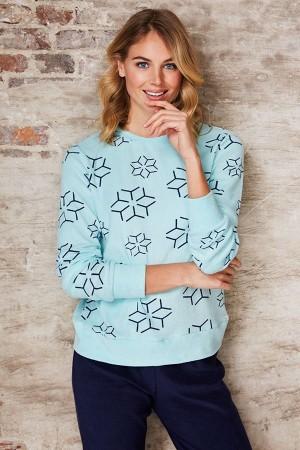 Pijama turquesa copos de nieve de invierno Rebelle