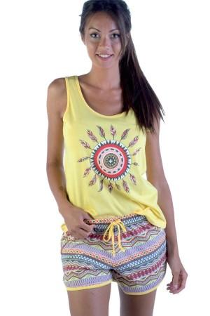 pijama-verano-tirantes-mujer-petrus-2420-amarillo
