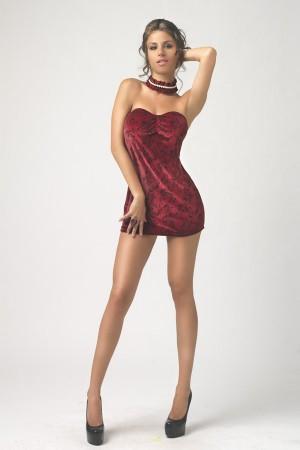 Vestido terciopelo rojo Bordeaux de Alter