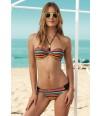 Bikini bandeau multicolor de Tranvia