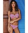 Bikini bandeau copa F rayas Cosima 8736 Rosa Faia