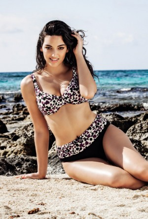 Bikini sujetador reductor animal print