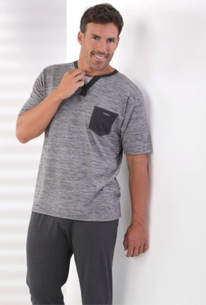 Pijama Massana de entretiempo gris P161367