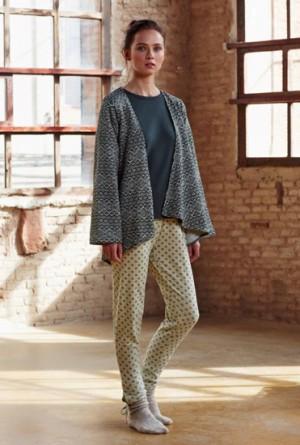 Pijama 3 piezas estampado étnico