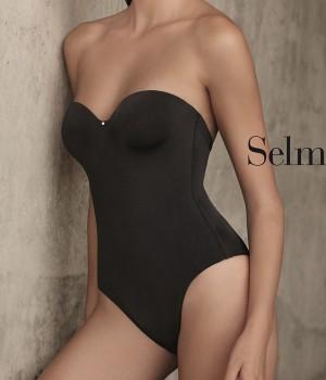 Body sin espalda Selmark tambien en color negro