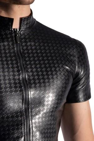 camiseta-lujo-cuero-CREMALLERA-M956-Manstore-Zipped-Shirt-2-11245
