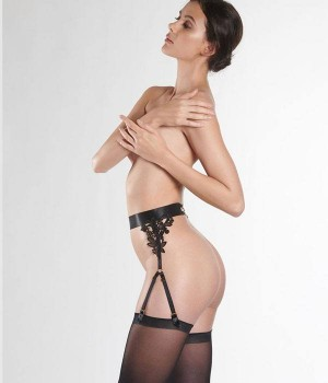 liguero-sexy-boudoir-aubade-jardin-du-desir-P052N-modelo