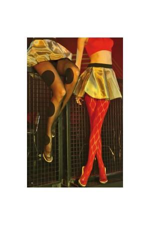 Panty dibujo calado en color rojo de Emilio Cavallini 5D31.1.52