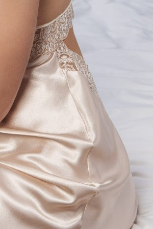 Camison novia push up en piel Heritage de Ivette Bridal