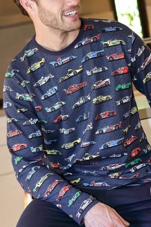 Pijama algodon hombre dibujo coches de Massana