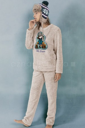 "Pijama mujer de pelo Gorjuss ""zorros"" de Santoro"