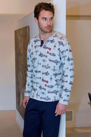 Pijama aviones de invierno para hombre 691306 Massana