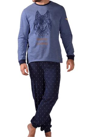 pijama-hombre-invierno-lobo-punto