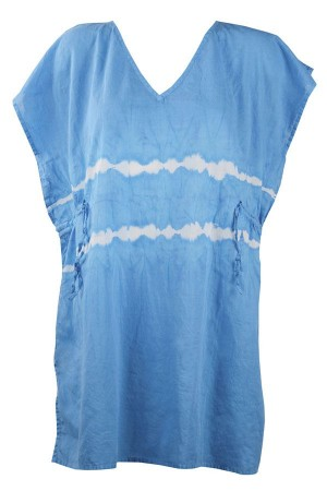 Tunica playera azul estilo boho Duala de Red Point