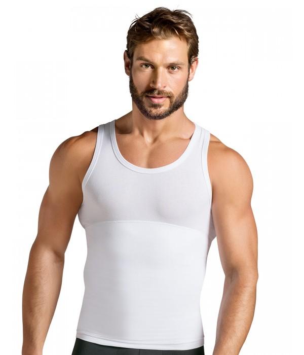 Camiseta reductora hombre de doble capa .