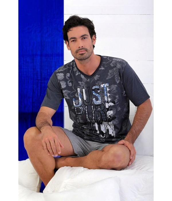 Pijama hombre manga corta verano Massana marino vigore P161337