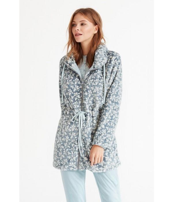 Pijama 3 piezas invierno azul y beige de Promise