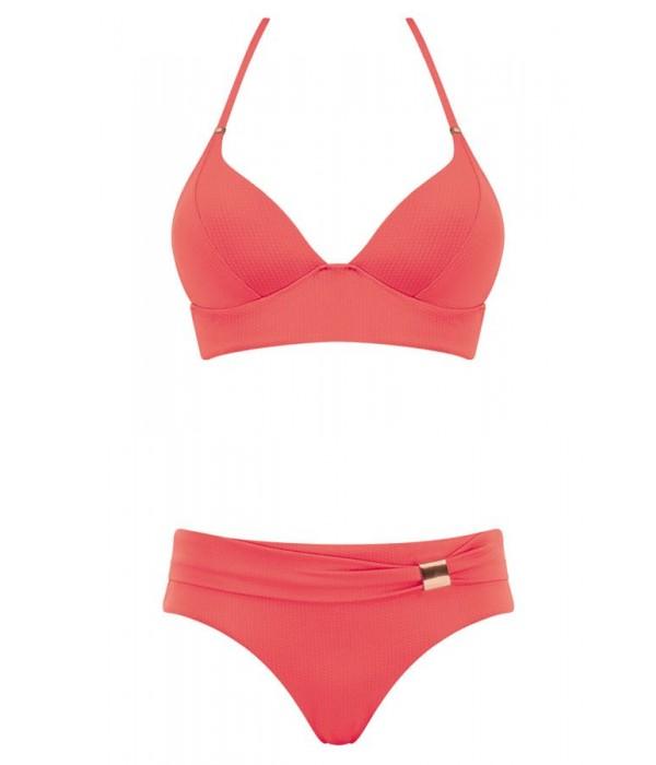 Bikini coral copa C sin aros de Triumph