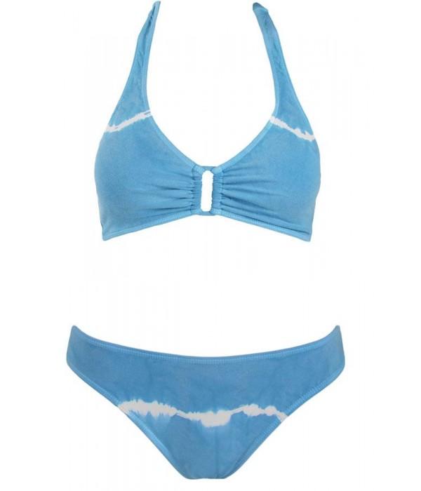 Bikini azul boho halter coleccion Duala de Red Point