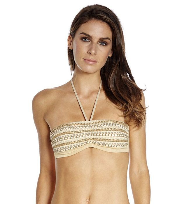 Bikini bandeau Glam Especial Red Point dorado gold 1280301