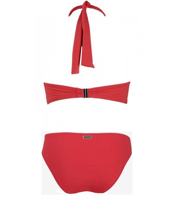 Bikini bandeau rojo con detalle de cuerda Varua Red Point