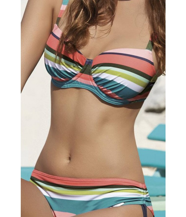 Bikini con aros estampado rayas de Sunflair 21326