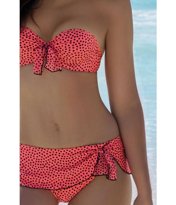 Bikini coral de topos coleccion La Dolce Riva de Antigel