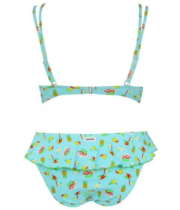Bikini con aros estampado tropical Iguape de Onades