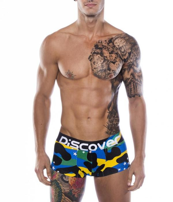 Boxer estampado bandera de brasil discover underwear