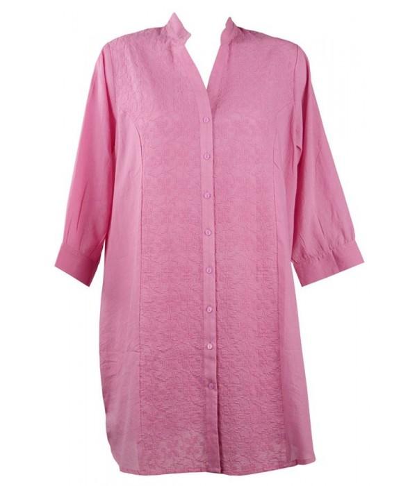 Playera rosa bordada coleccion Monica de Red Point