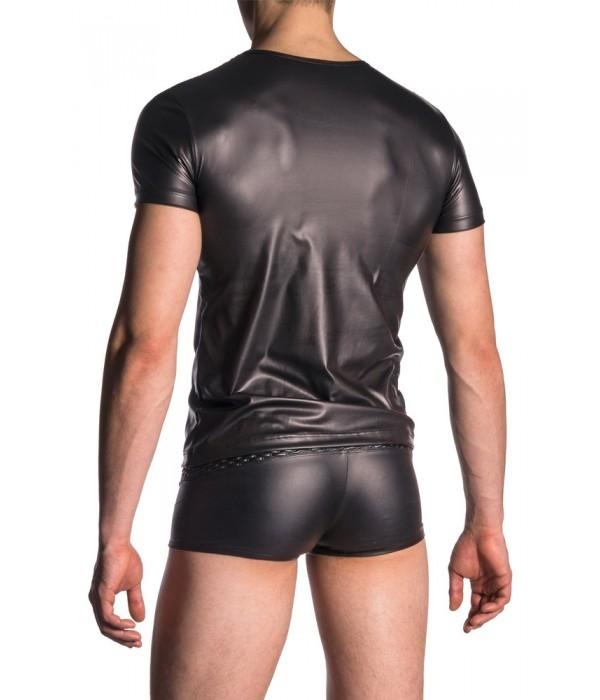 Camiseta espalda hombre vinilo cuero M701 Manstore