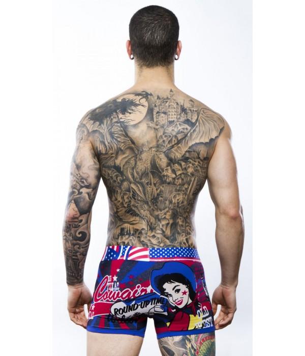 Boxer estampado del oeste americano Discover Underwear
