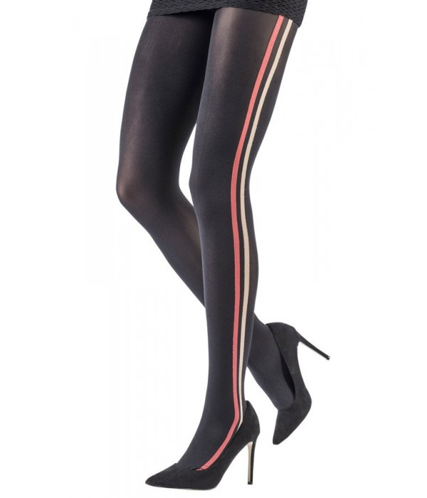 Pantys Striped Band Tights linea vertical moda emilio cavallini 5D32.1.43