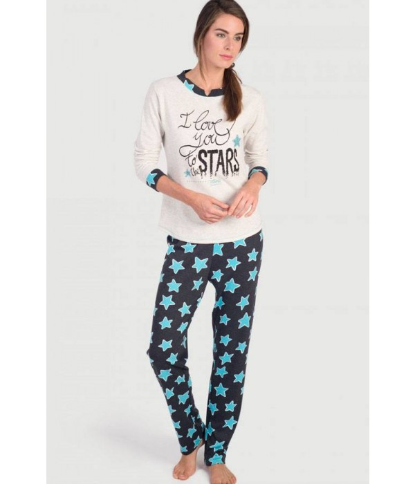 """Pijama de mujer """" I love you stars"""" de Massana"""